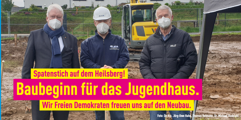 Baubeginn Jugendhaus Bad Vilbel